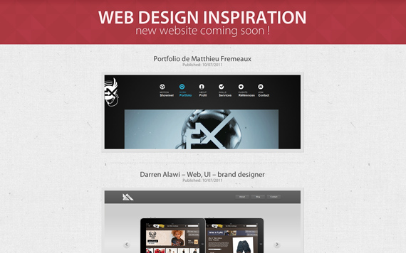 Webinspeer.com Web design award gallery