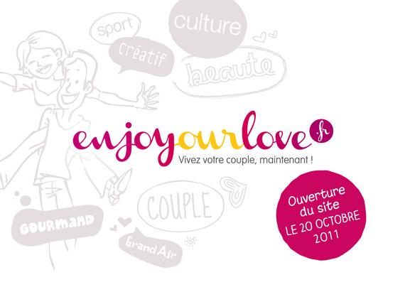 flyer recto pour le lancement du site Enjoyourlove.fr
