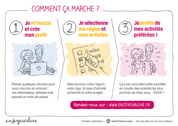 flyer de lancement du site Enjoyourlove.fr