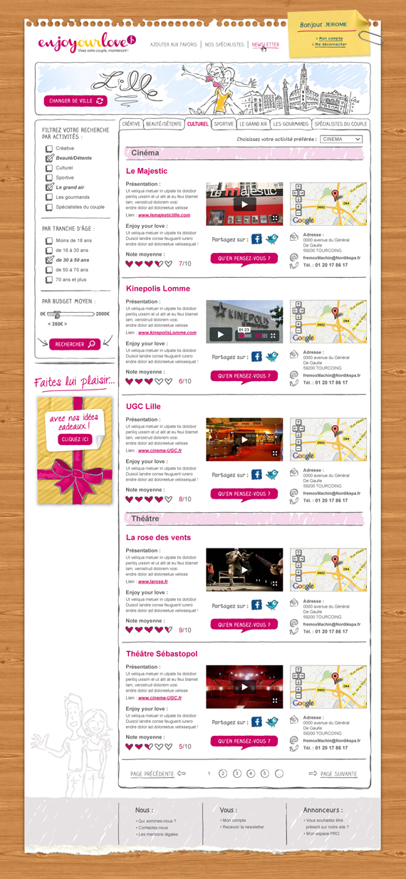 site web Enjoyourlove.fr